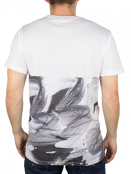 Hype White Brushstroke Panel T-Shirt