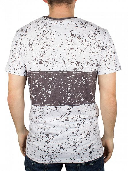 Hype White/Black Pollock All Over Splat Stripe T-Shirt