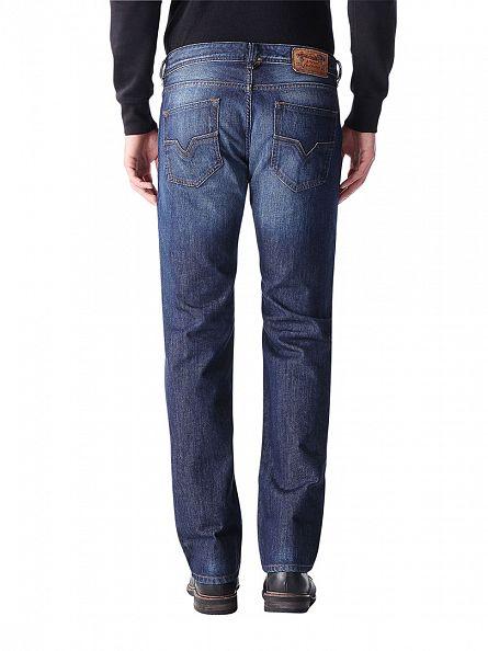Diesel Dark Denim Larkee 0823G Regular Straight Jeans
