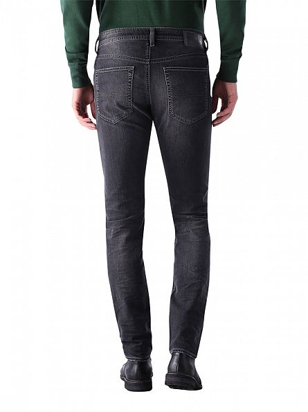 Diesel Charcoal Buster 0669F Regular Slim Tapered Jeans