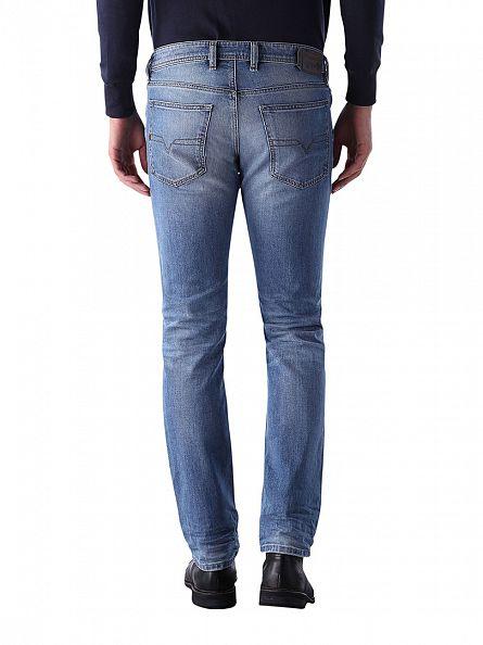 Diesel Light Denim Waykee 0842H Regular Straight Jeans