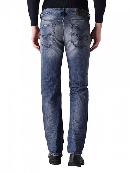Diesel Blue Denim Larkee 0849A Regular Straight Jeans