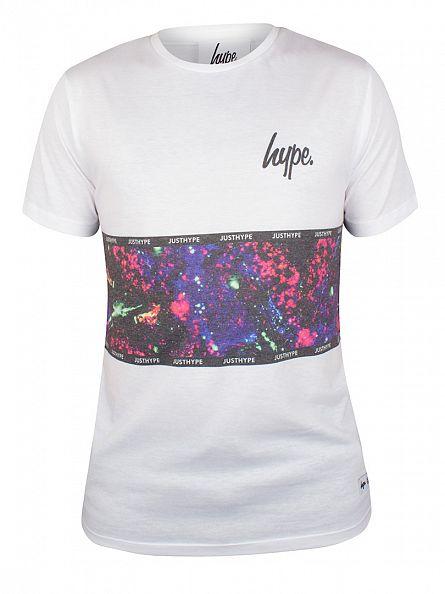 Hype White Motivator Stripe T-Shirt