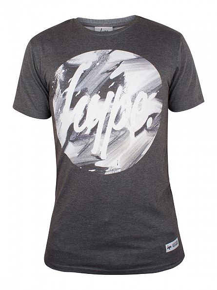 Hype Grey Brushstroke Circle T-Shirt