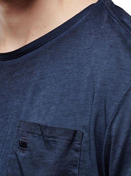 G-Star Rank Blue/Saru Blue Mondollo Logo Pocket T-Shirt