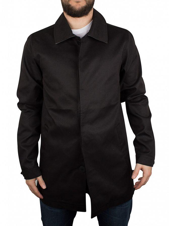 Bellfield Black Gota Bonded Mac Jacket