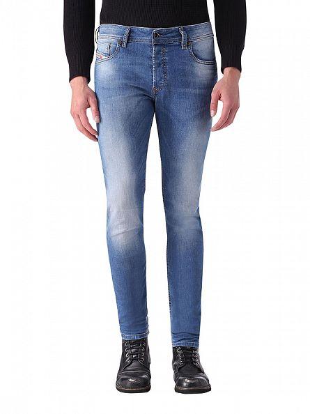 Diesel Blue Sleenker 0670K Slim Skiny Jeans