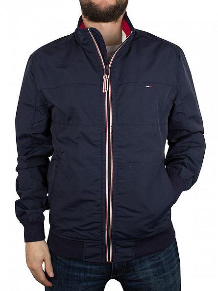 Hilfiger Denim Navy Blazer Bobby Logo Zip Jacket