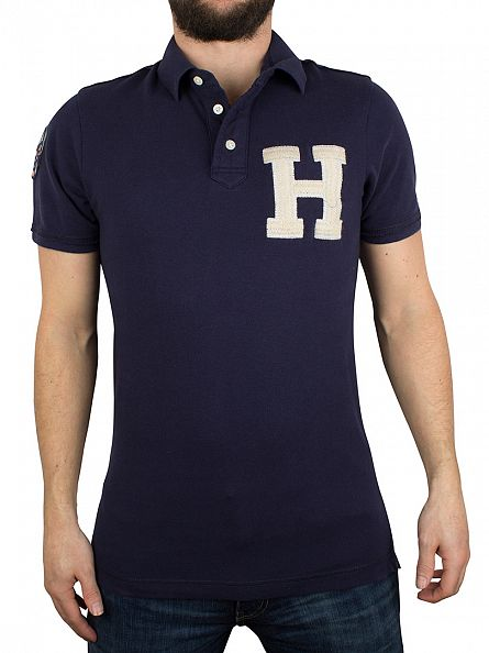 Hilfiger Denim Peacoat Coventry Large Logo Polo Shirt