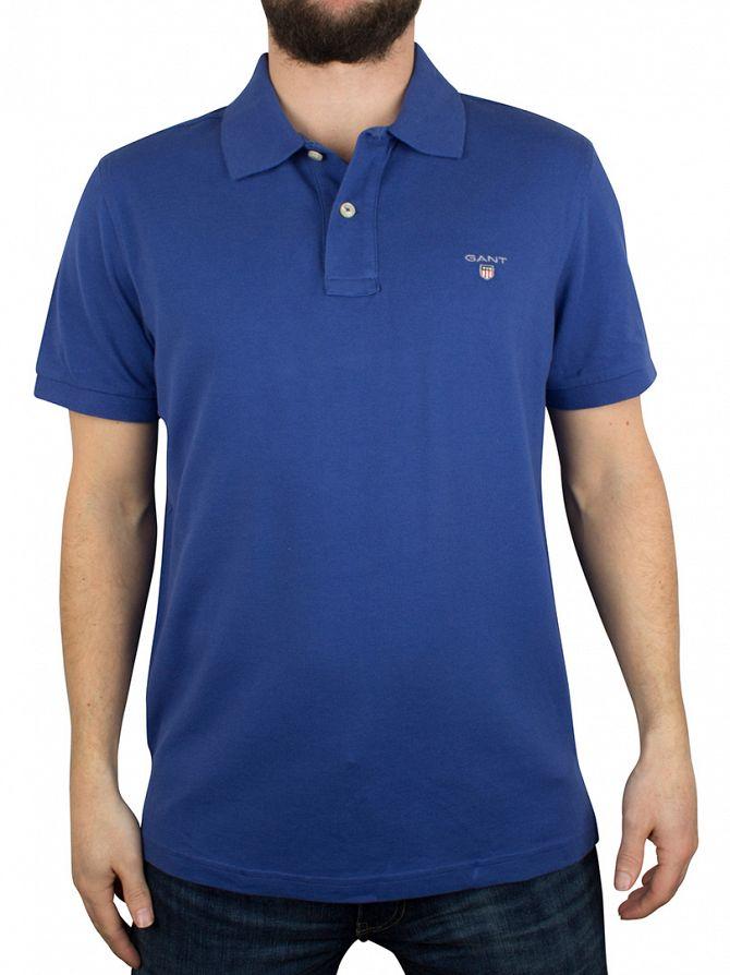 Gant Yale Blue Original Pique Rugger Logo Polo Shirt