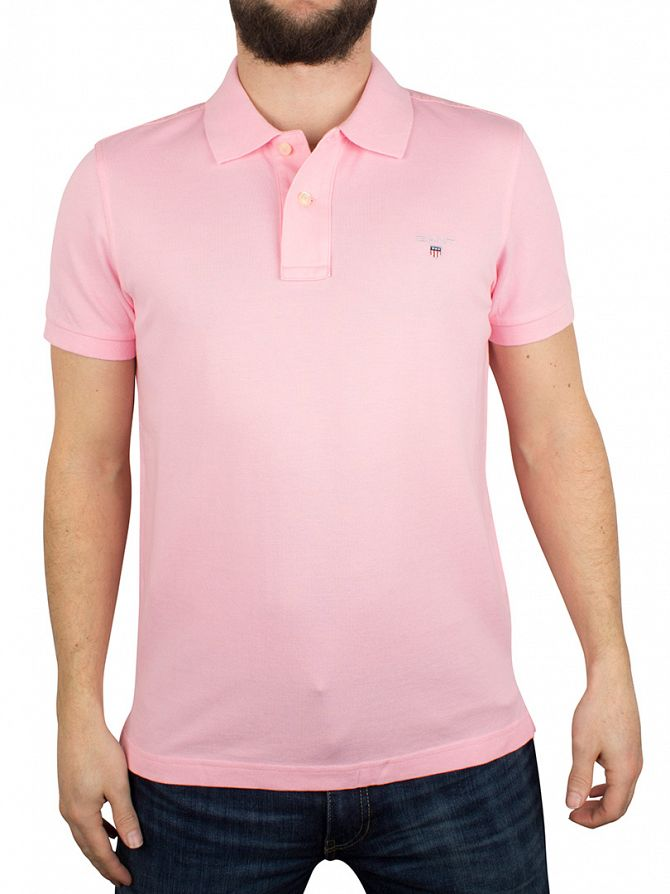 Gant Soft Rose Original Pique Rugger Logo Polo Shirt