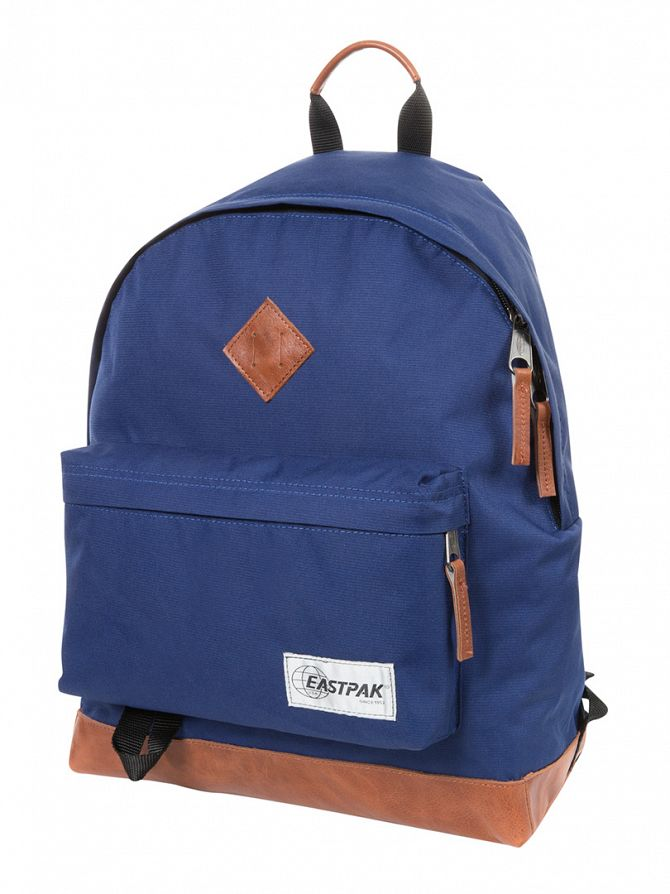 Eastpak Into Tan Navy Wyoming Logo Backpack
