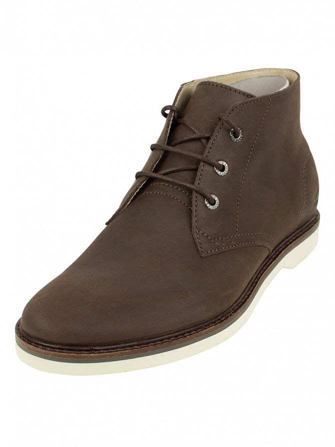 Lacoste Dark Brown Sherbrooke Hi 116 1 Cam Trainers