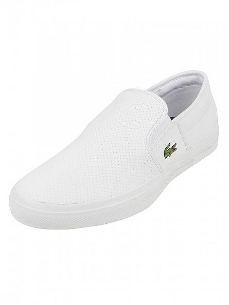 Lacoste White Gazon Sport 116 2 SPM Slip-On Shoes