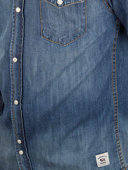 Bellfield Stonewash Codeine Stonewash Denim Shirt