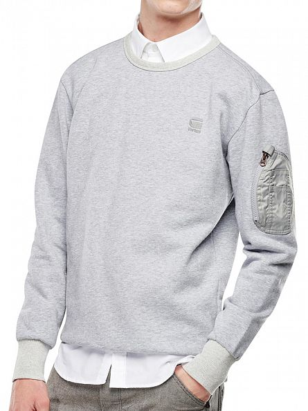 G-Star Grey Heather Kendo Logo Sweatshirt