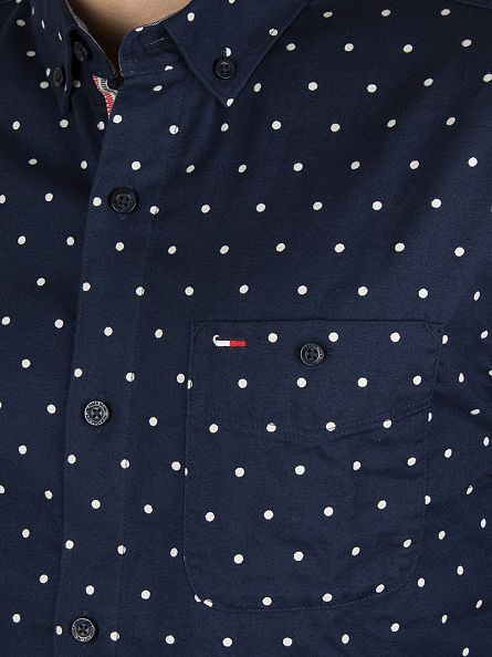 Hilfiger Denim Navy Blazer Lailey Polkadot Shirt