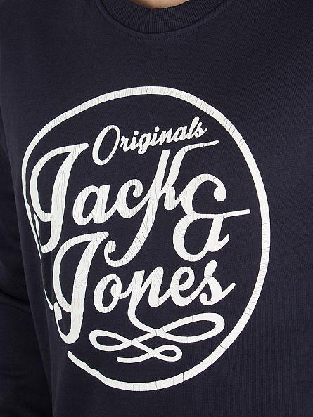 Jack & Jones Navy Blazer Manc Graphic Sweatshirt