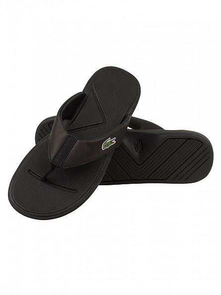 Lacoste Black L.30 116 2 SPM Flip Flops