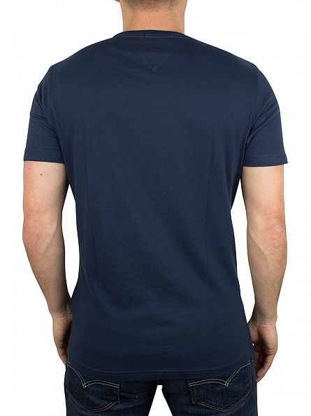 Hilfiger Denim Blue Wing Teal Navy Established Graphic T-Shirt