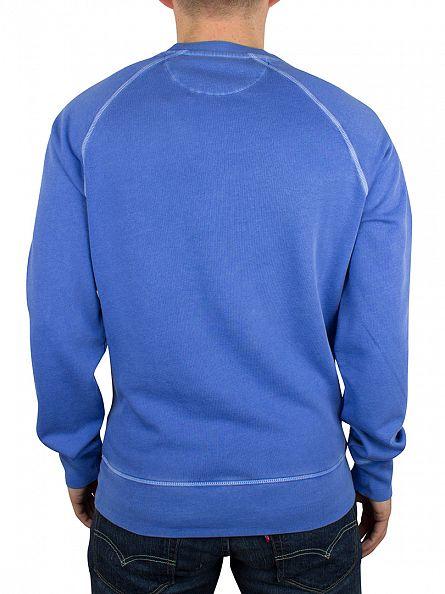 Gant Palace Blue Sunbleached Logo Sweatshirt