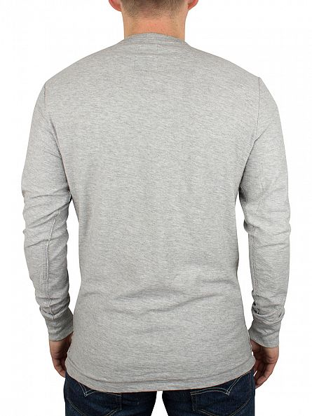 Diesel Light Grey Marl Niketas Longsleeved Grandad T-Shirt