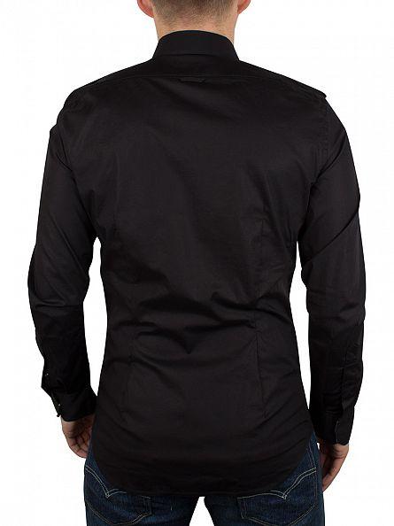 Diesel Black Haul Slim Fit Plain Pocket Shirt