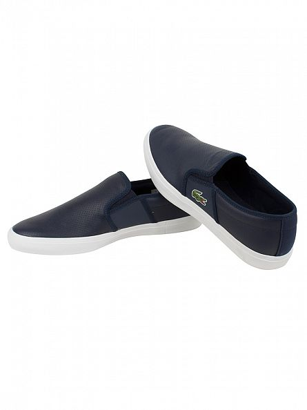 Lacoste Navy Gazon Sport 116 2 Slip-On Shoes
