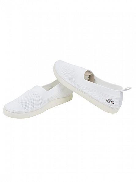 Lacoste White L.ydro 116 1 SPM Slip-On Shoes