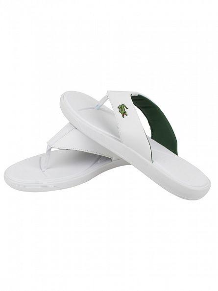 Lacoste White L.30 116 1 SPM Flip Flops