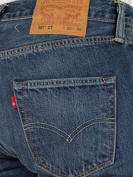 Levi's Blue Denim 501 Customized Tapered Spirit Fit Jeans