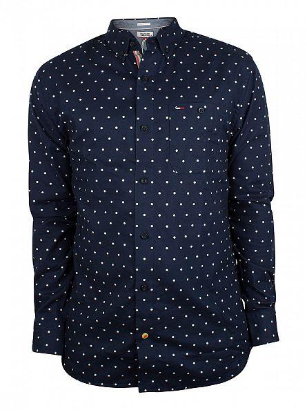 Hilfiger Denim Navy Blazer Lailey Polkadot Shirt