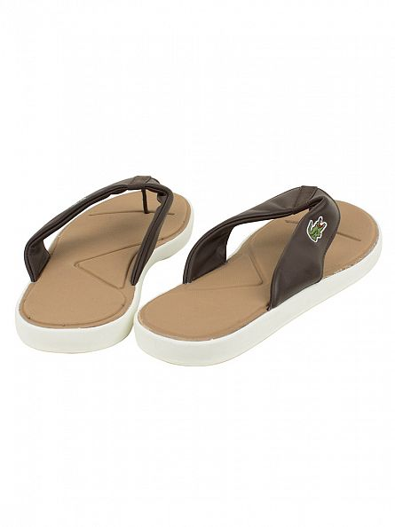 Lacoste Dark Brown/Off White L.30 116 2 SPM Flip Flops