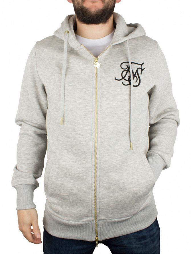 Sik Silk Light Grey Standard Logo Tracksuit Hoodie