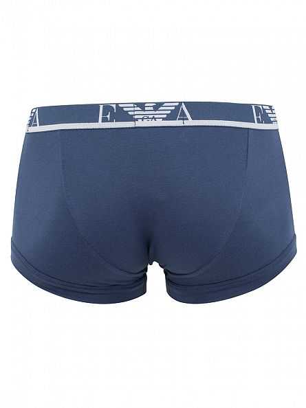 Emporio Armani Black/Navy/Blue 3 Pack Trunks