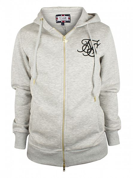 Sik Silk Light Grey Logo Tracksuit Hoodie