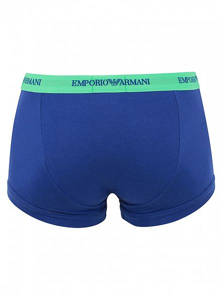 Emporio Armani Marine/Green 3 Pack Trunks