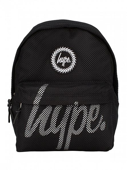 Hype Black Mesh Logo Backpack