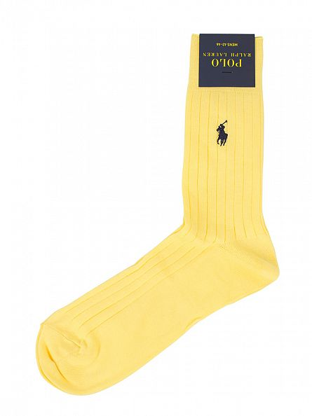 Polo Ralph Lauren Yellow SCK Egyptian Cotton Logo Socks