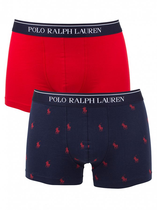 Polo Ralph Lauren Red/Navy 2 Pack Stretch Cotton Trunks