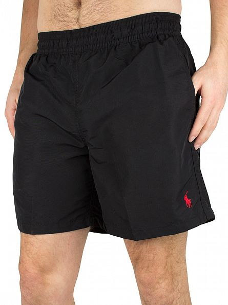 Polo Ralph Lauren Polo Black Hawaiian Boxer Logo Swim Shorts
