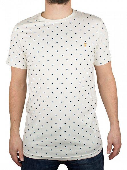 Farah Vintage Ecru Bilton Polka Dot T-Shirt