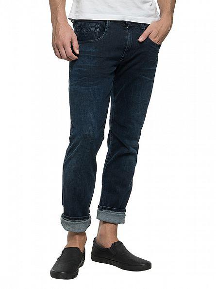 Replay Dark Denim Anbass Slim Fit Jeans