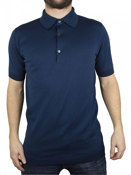 John Smedley Indigo Adrian Polo Shirt