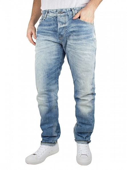 Scotch & Soda Denim Blue Ralston Solar Bright Regular Slim Fit Jeans
