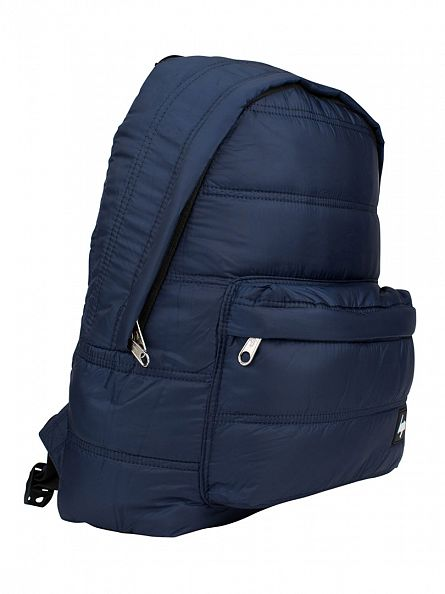 Hype Navy Fabric Quilted Logo Backpack