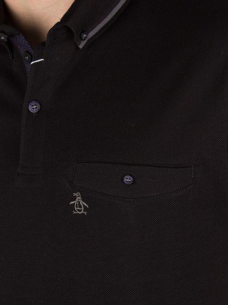 Original Penguin True Black Tipped Logo Polo Shirt