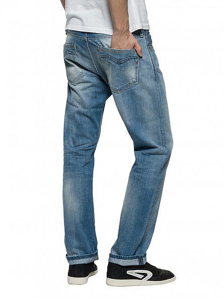 Replay Light Denim Newbill Comfort Fit Jeans