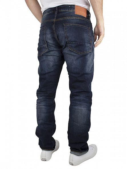 Scotch & Soda Denim Blue Vernon Dawn To Dusk Regular Straight Fit Jeans