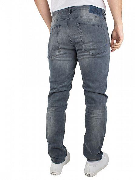 Scotch & Soda Black Grey Skim Concrete Bleach Skinny Fit Jeans
